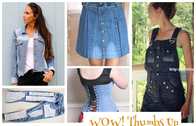 Stylish Ways to Alter Old Jeans into New Fashion Tutorials