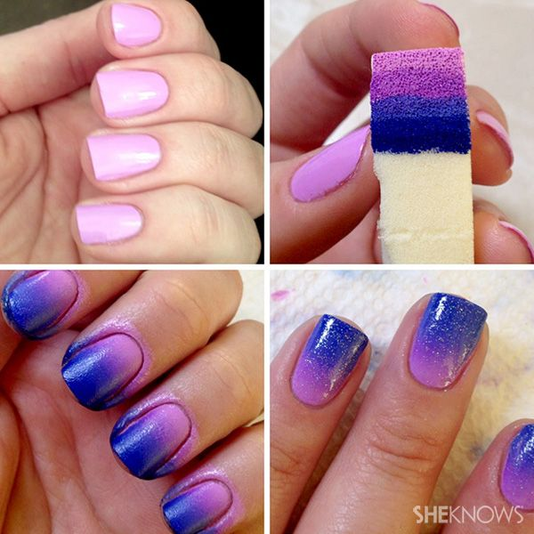 Autumn Nail Art Manicure Design - DIY Ombre Nail Design Tutorial ...