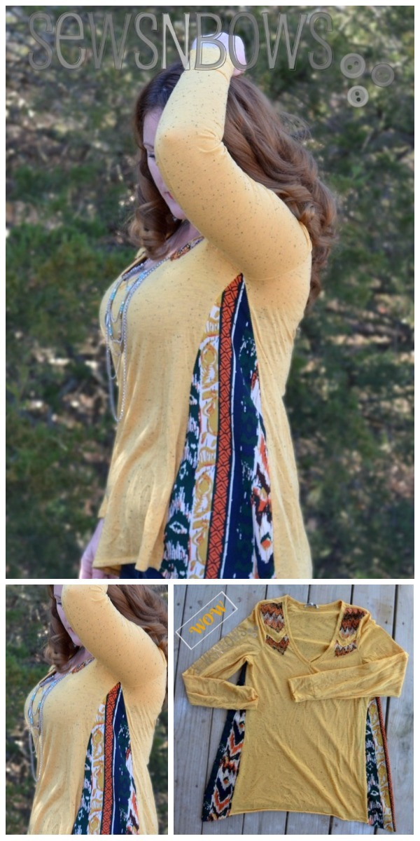 Chic T-shirt Refashion Ideas with DIY Tutorials-DIY BOHO T-shirt Refashion Tutorial