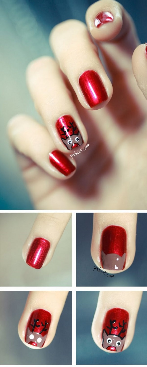 Easy Christmas Nail Art Step By Step