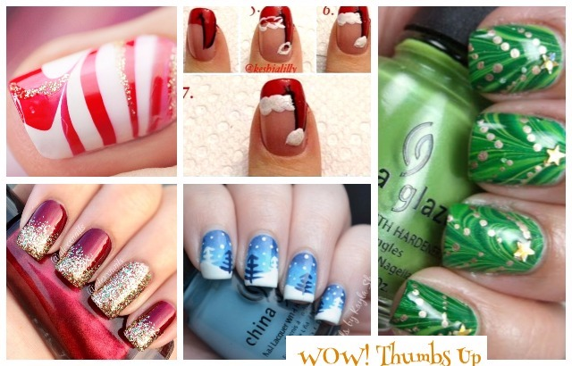 Easy DIY Christmas Nail Art Ideas Tutorials