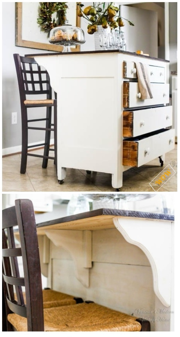 Old Dresser Makeover Ideas Diy Tutorials Turn Into Kitchen Island Tutorial