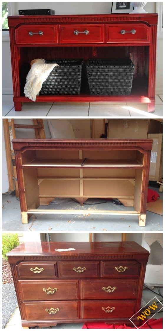 Old Dresser Makeover Ideas Diy Tutorials Turn Into Entryway Table Tutorial