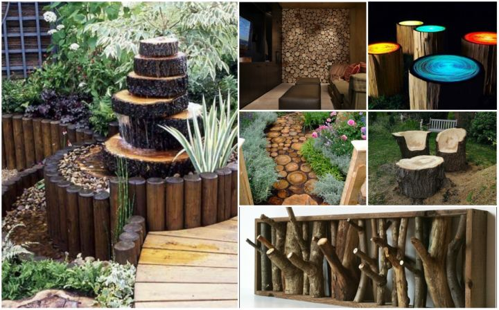Fab Art Diy Rustic Log Decorating Ideas For Home And Garden