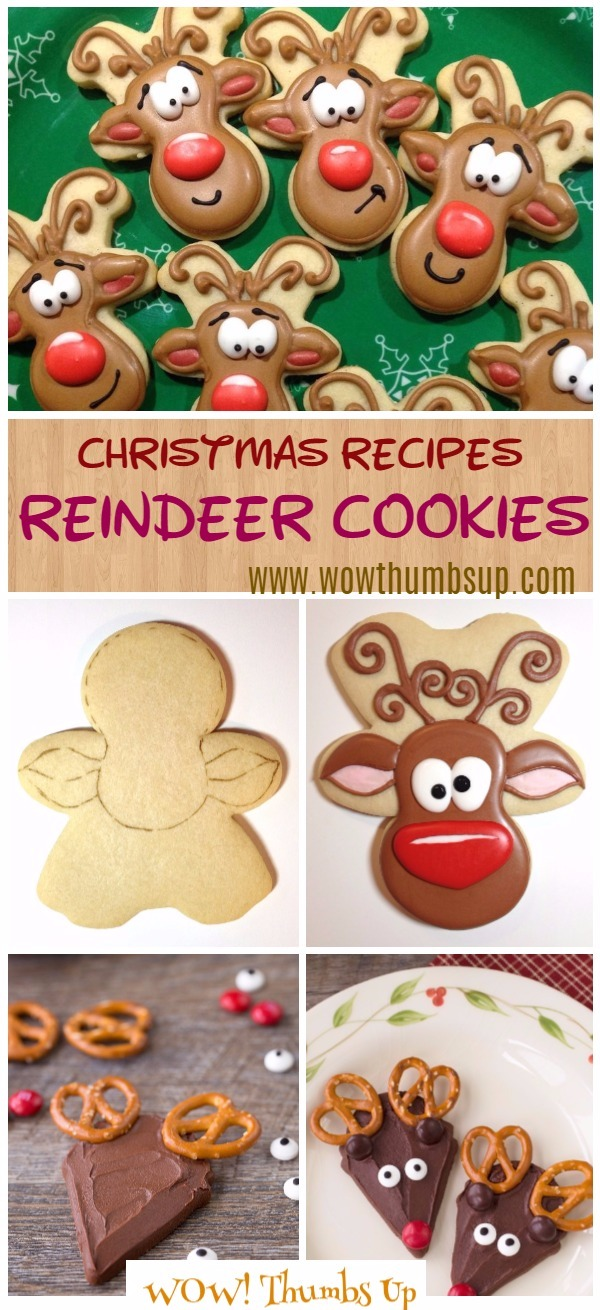 diy christmas reindeer cookies recipe video tutorial