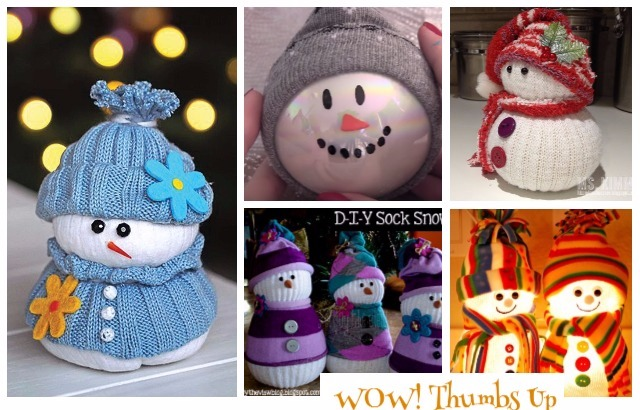 DIY Sock Snowman Crafts Ideas and Tutorials For Kids