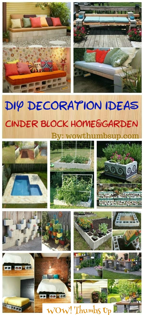 DIY Cinder Block Home Garden Decoration Ideas