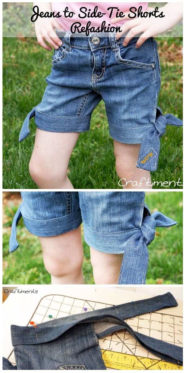 0288dfc020c0e Fashion Hack: Ways to Turn Worn Jeans into Jean Shorts- DIY Refashion Jeans  into