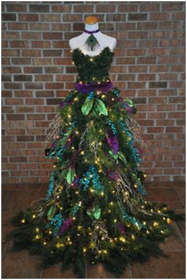 diy mannequin christmas tree tutorial