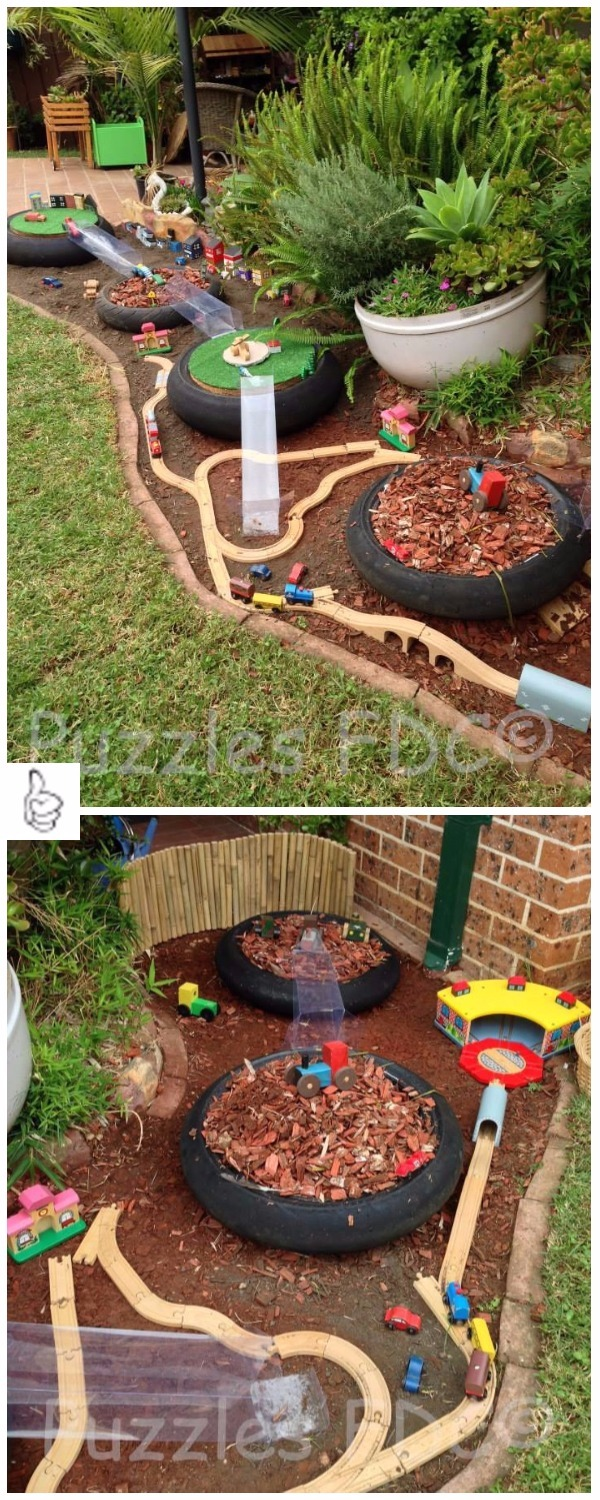 DIY Kids Race Car Track Ideas & Tutorials Indoor + Outdoor