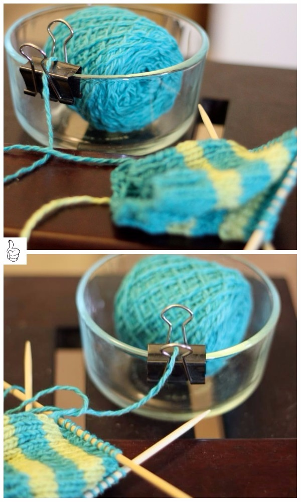 yarn holder hacks every knitter loves to know simple binder clip