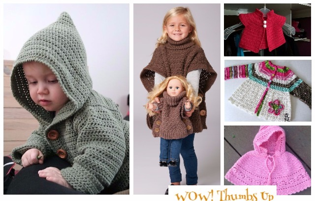 Crochet Kids Sweater Outwear Patterns