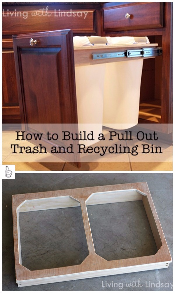 Diy Pull Out Trash Can Tutorials Diy Pull Out Trash And