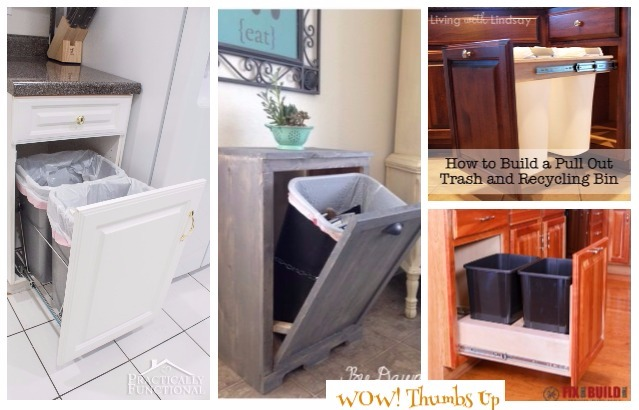 Diy Pull Out Trash Can Tutorials Free Plans Kitchen