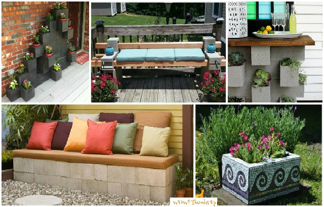 DIY Cinder Block Home & Garden Decoration Ideas