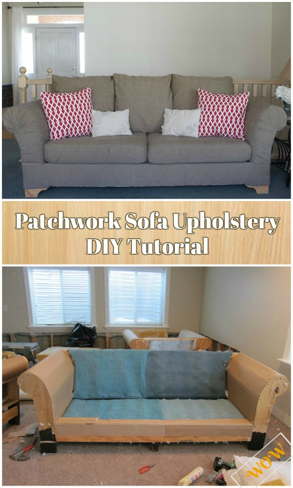 DIY Patchwork Sofa Upholstery Tutorial Video