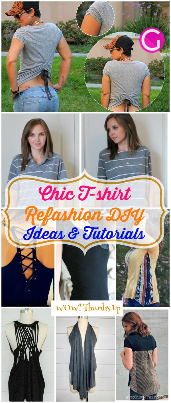 Chic T-shirt Refashion Ideas with DIY Tutorials