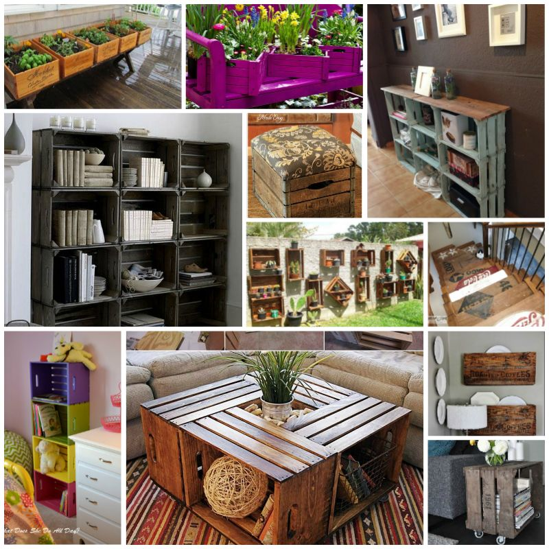 Diy Wood Crate Up Cycle Ideas And Projects