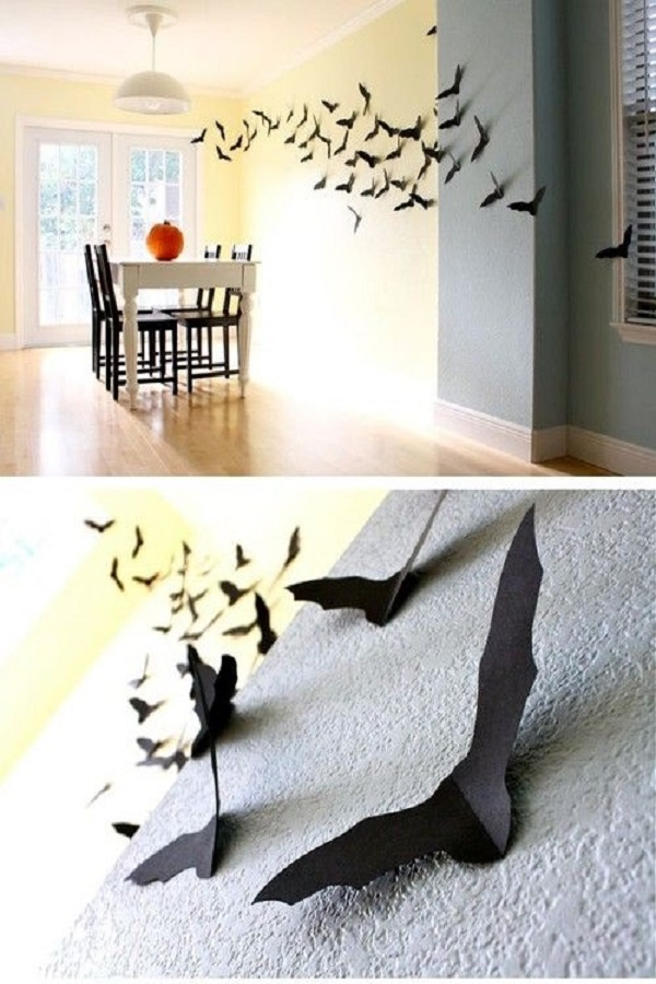 Diy Easy Decorating Ideas Projects Flying Bats Wall Decor Tutorial